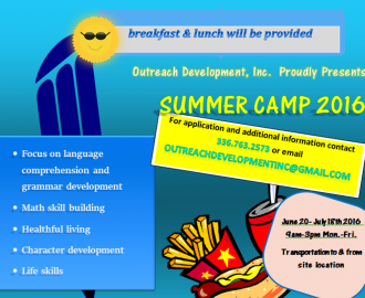 Flyer for Summer Camp